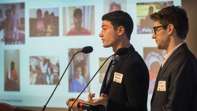 Ramon Aleman, and Daren McCurdy, of Unhoused Humanity were the grand prize winners during Friday's InNOLEVation Challenge.