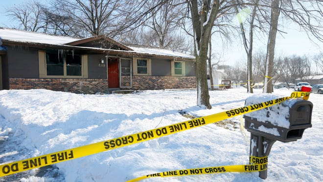 A man was killed in a fire at a home at 875 West N Ave. in Nevada early on Feb. 4, 2016.