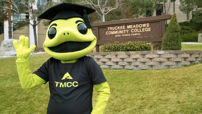Wizard the Lizard, the official mascot of Truckee Meadows Community College, has been identified as a gender-neutral mascot.