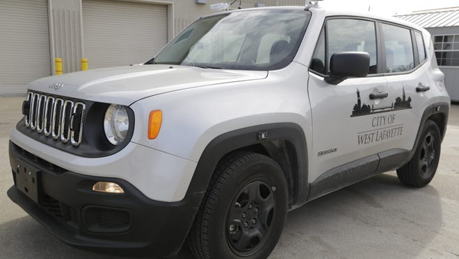 A West Lafayette parking enforcement vehicle is equipped with cameras and a computer to patrol parking spots across the city. The technology, which was rolled out late January, stores photos of parked cars and their license plates to aid the city's neighborhood resource officers.