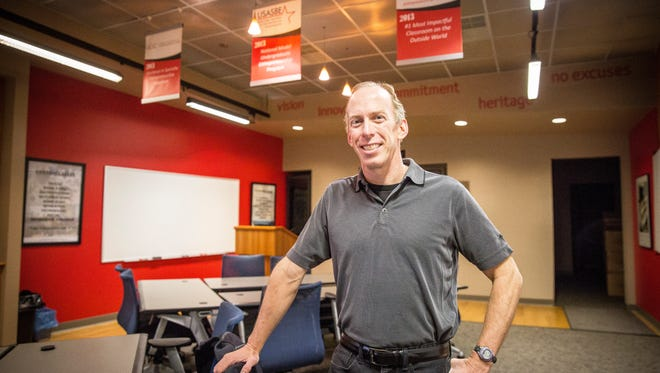 Michael Goldsby, who has taught business at Ball State for 15 years will lead the John H. Schnatter Institute for Entrepreneurship and Free Enterprise founded by John Schnatter and the Charles Koch Foundation. The $3.25 million grant will supports the university's goal to become a national model for values and ethics-based entrepreneurship.