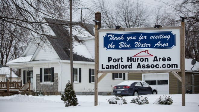 A sign put up by the Port Huron Area Landlord Association is displayed at Griswold and 26th streets as drivers leave Port Huron. In 2015, the city made 2,174 contacts with property owners regarding blight issues, of which about 891 were rental properties.