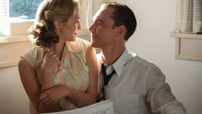 Left to right: Elizabeth Olsen as Audrey Williams and Tom Hiddleston as Hank Williams in I Saw the Light. The scene was filmed in a house on Janther Place by Mall St. Vincent in Shreveport.