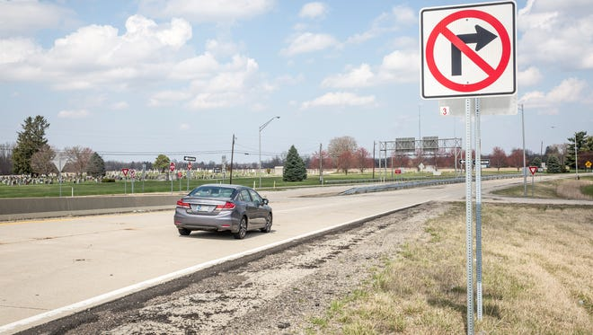 The Hoyt Avenue exit along Ind. 67 is one of several entrances into Muncie. Mayor Dennis Tyler said he would like to see the extra funds make it a more attractive entrance into the city.
