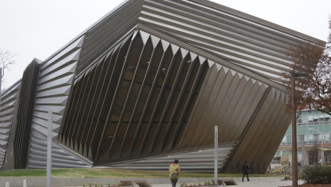 The Eli and Edythe Broad Art Museum at Michigan State University in East Lansing was designed by architect Zaha Hadid, her first building in Michigan and only her second one in the USA.