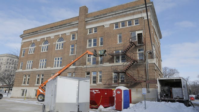 The Washington Building, located at 105 Washington Ave., is undergoing a major renovation. The building will be renovated and converted to apartments.