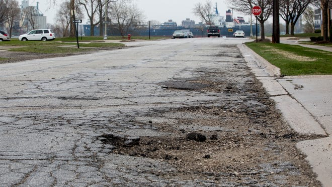 Beers Street, between Merchant and Michigan streets, will be repaved as part of $1.9 million city project to replace roads, sidewalks and water mains in the area.