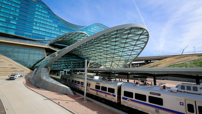The newest departure from Denver International Airport isn't a plane – it's a train.