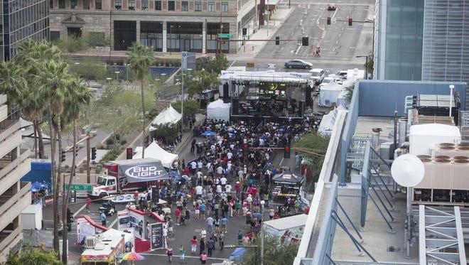 The Cinco De Mayo Phoenix Festival fills Van Buren Street, Sunday, May 3rd, 2015, in Phoenix, Ariz.
