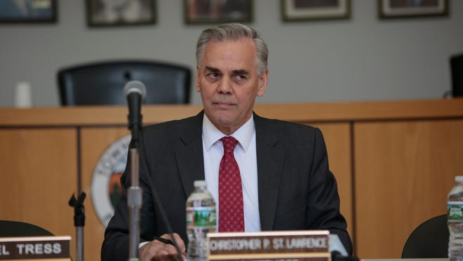 Town of Ramapo Supervisor Christopher St. Lawrence is shown at a town meeting on April 27, 2016.