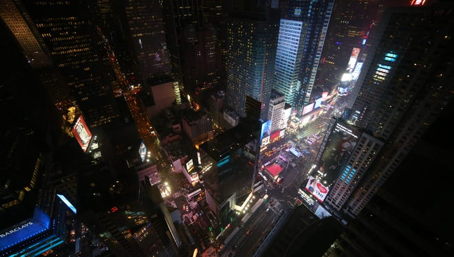 Photo taken by Connor Cummings of Times Square.