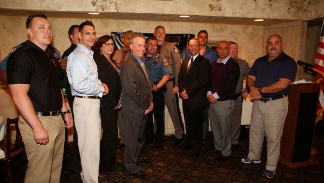 The annual STOP-DWI award ceremony was held for Rockland County police officers representing local, State Police and the Sheriff's Office who pulled over 388 drunk drivers in 2015, at La Terrazza restaurant in New City on April 28, 2016.