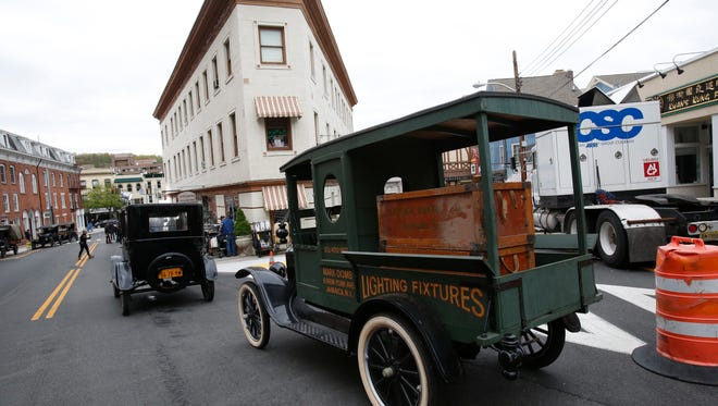 Brown Street in Peekskill has been transformed to look like a street from the 1920's in Hoboken for the film production of Wonderstruck, the childrenÕs novel by Brian Selznick, on May 5, 2016.  The film is starring Julianne Moore and written and directed by Todd Haynes.
