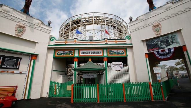 Entrance to the Dragon roller coaster at Rye Playland
