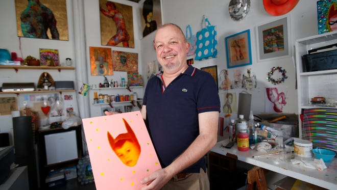 John Wujcik at his studio May 8, 2016,  a multimedia artist and photographer will be one of over 50 artists that will be open to the public  during Yonkers Arts Weekend at the YoHo Studios on Nepperhan Avenue in Yonkers.