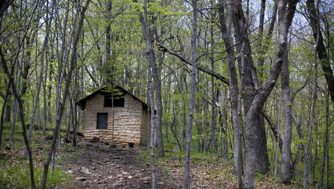 The park features 6 miles of trails for visitors to explore Wednesday, May 4, 2016, at Maquoketa Caves State Park south of Dubuque in Maquoketa, Iowa.