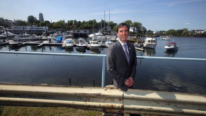 New Rochelle Mayor Noam Bramson at the municipal marina on May 20. Bramson says the city is planning several initiatives to create public access to the waterfront.