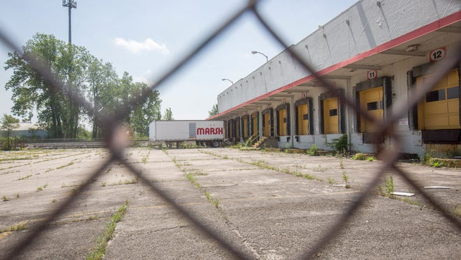 The former 400,000 square feet Marsh warehouse sits unused Wednesday afternoon, and is for sale by the owner. There is still another warehouse in use on the property, but offers for the property are due June 9.