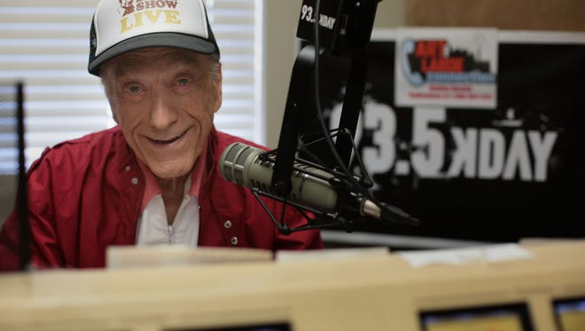Radio broadcast legend Art Laboe at his studio in Palm Springs on Wednesday, April 27, 2016.
