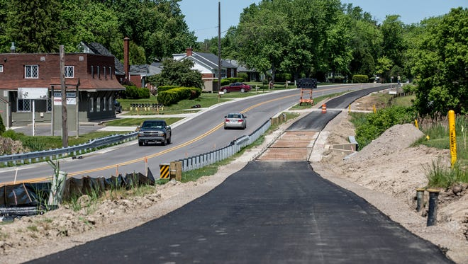 A bicycle path along the east side of Water Street in Port Huron Township is expected to be completed by the end of the month.