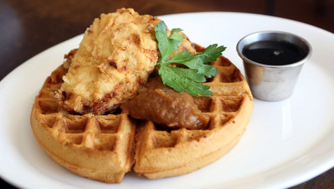 Chicken and waffles at Roost Restaurant in Sparkill.