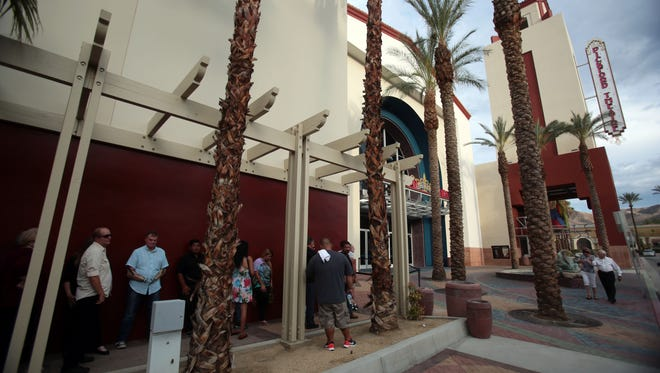 Line to see a red carpet screening of 'Vigilante Diaries' at the Mary Pickford Theater in Cathedral City on Saturday, June 18, 2016. As of Friday, June 24, 2016, the theater is under new management.