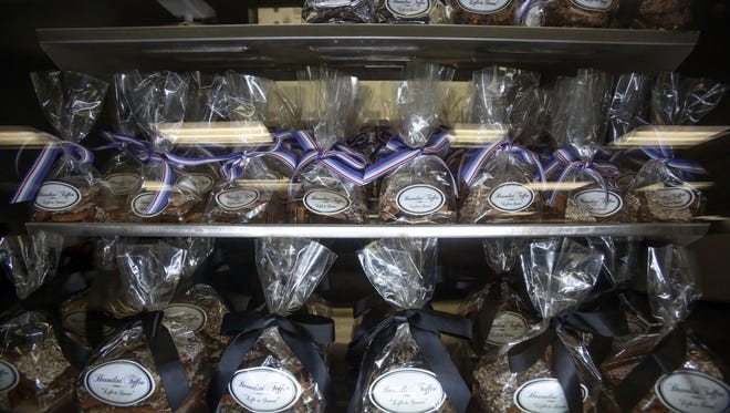 Toffee on sale at Brandini Toffee's new factory store in Rancho Mirage on Thursday, June 30, 2016.