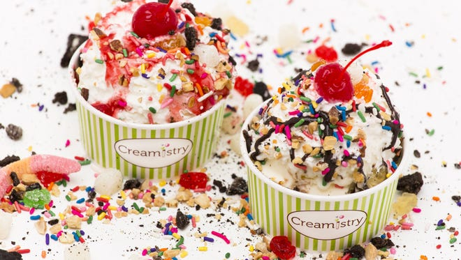 The newest location of ice cream shop Creamistry will open at Uptown Plaza on July 11.