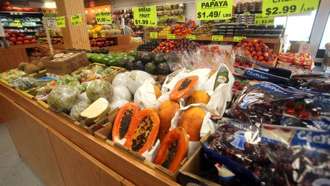 Tropical Farm, a grocery store that recently opened on Tarrytown Road in White Plains, features a variety of exotic fruits and other produce, including papaya and close to ten different varieties of yams.