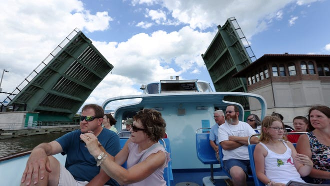 The Skyline Princess tour boat made its maiden voyage on the Manitowoc River July 8 during the second annual Subfest in Manitowoc.