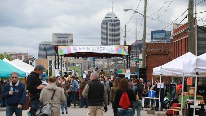 Attendees braved chilly temperatures to come out for the second Virginia Avenue Folk Fest held in and around Fountain Square in Indianapolis, Saturday May 14th, 2016.