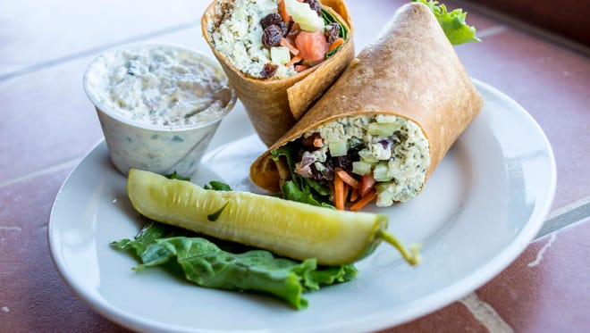 A chicken salad wrap at the Raven Cafe in downtown Port Huron. The Raven will be serving the wrap, among other offerings, at Taste of Port Huron during Blue Water Fest.