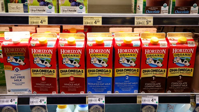 An organic milk brand recently acquired by Danone.
