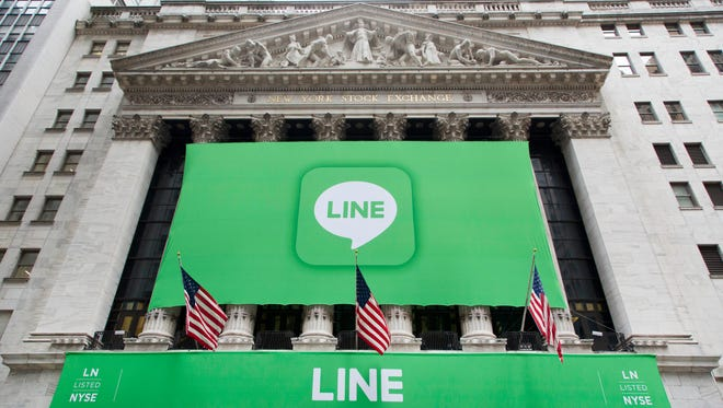 Japanese messaging app Line has its IPO at the New York Stock Exchange on Thursday.