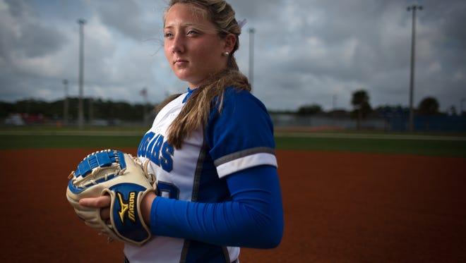 Tori Sutherland, the 2016 Naples Daily News Softball Player of the Year