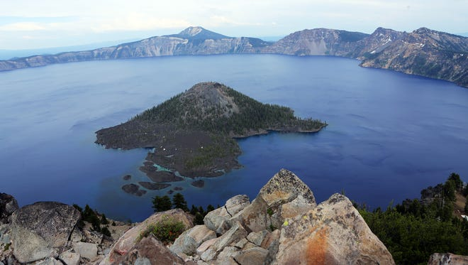 Crater Lake, Oregon's only national park, features nearly unlimited recreation options in and around the six-mile-wide caldera. One source of stunning views is the hike to the old fire lookout on Watchman Peak, high on the western rim.