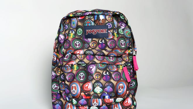 A Jansport patterned backpack.
