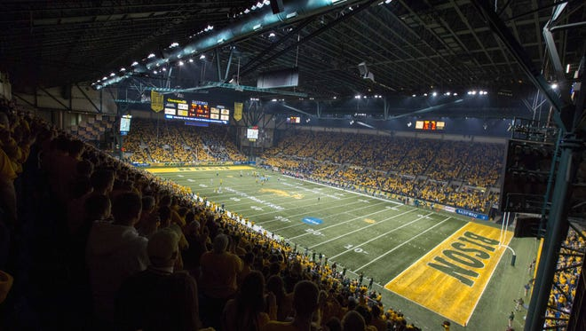 Fargo, ND, USA; A general view of the FargoDome.