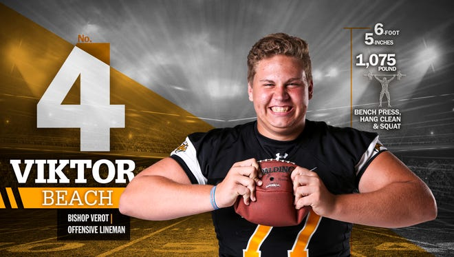 Bishop Verot lineman Viktor Beach is No. 4 on The News-Press/Naples Daily News Big 15.