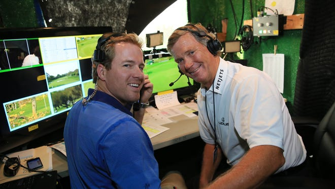 Peter Jacobsen, right, a Bonita Springs resident, will be on the broadcast team calling golf in the 2016 Summer Olympic Games in Rio de Janeiro, Brazil.