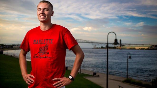 Marlette senior Andrew Storm is the Times Herald Male Athlete of the Year.
