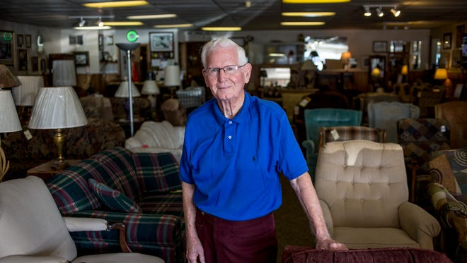Emory Floyd, 86, pictured Tuesday, August 30, 2016 at Floyd Family Furniture in Port Huron Township. Floyd has sold his business after operating for 45 years.