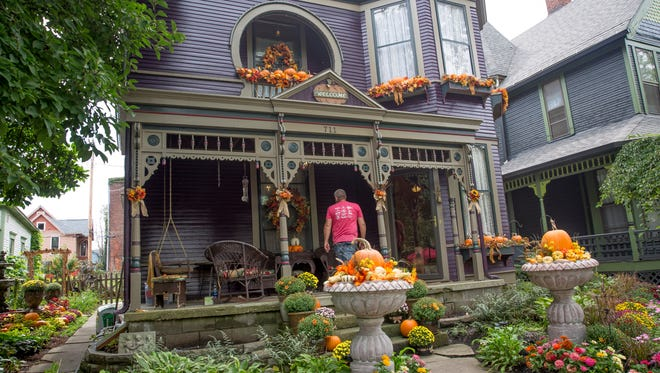 Historic homes are featured among the attractions and activities at the annual Old Washington Street Festival, shown in this file photo from a past year.
