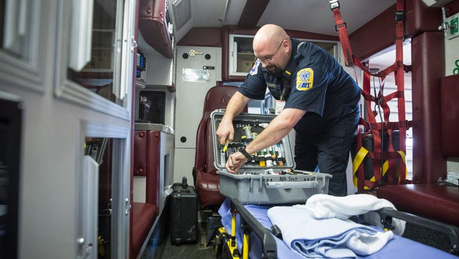 """The """"drug box"""" as it's known by EMS has substances to combat a variety of problems in the field including Naloxone, a heroin overdose antidote best known by the brand name Narcan. Overdoses have been an increasing problem locally and around the Midwest after the chemical fentanyl was included."""