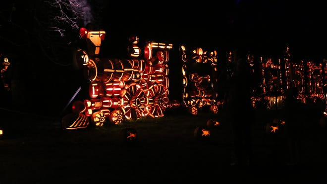Scenes from the Great Jack O'Lantern Blaze at Van Cortlandt Manor.