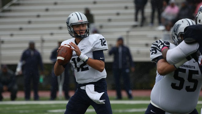 Cody Williams drops back to pass during Monmouth's 59-27 win at Howard on Saturday. The redshirt sophomore threw for 188 yards and two touchdowns