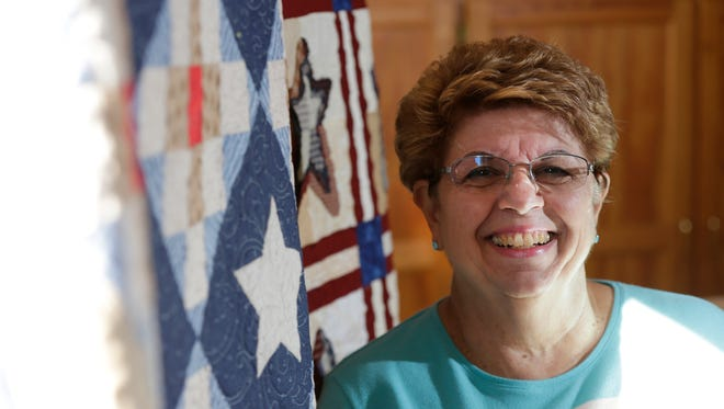 Linda McLarnan has been quilting with the Golden Needle Quilters of Almond for 4 years.