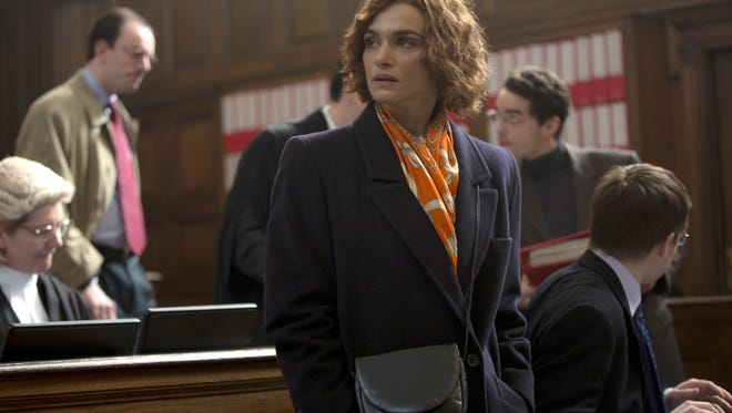 "Rachel Weisz stars as writer and historian Deborah E. Lipstadt in the legal drama ""Denial."" In this image released by Bleecker Street, Rachel Weisz portrays writer and historian Deborah E. Lipstadt in a scene from ""Denial."" (Laurie Sparham/Bleecker Street via AP)"