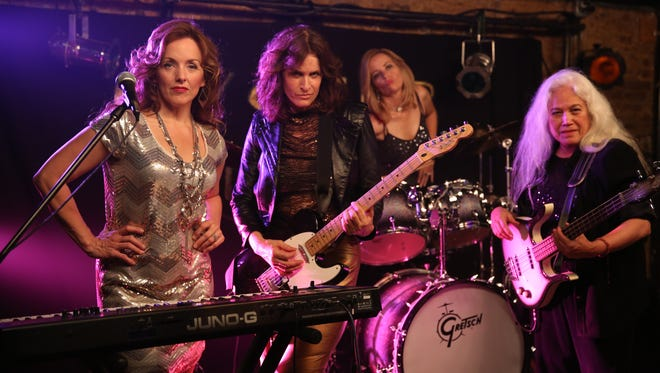 Tony Award-winner Alice Ripley, at left, stars in Sugar!, which is about women fulfilling their dreams over age 50 — even starting a rock band. She will join director Shari Berman at the Little Theatre at 7:30 p.m. Friday (Nov. 11) for the screening and a talk with the audience following.