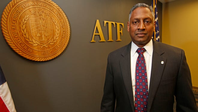 Special Agent-in-Charge Ashan Benedict, a Yonkers native, is heading up the New York Division of the Alcohol, Tobacco and Firearms (ATF) at his office in the Bronx on Nov. 3, 2016.